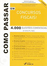 Capa do livro Como Passar em Concursos Fiscais, Wander Garcia, Robinson Barreirinhas