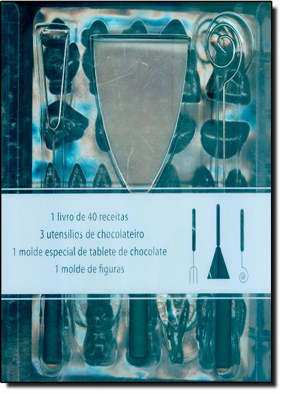 Capa do livro Kit - Atelier do Chocolate (3 utensílios de chocolateiro + 2 moldes), Trish Deseine