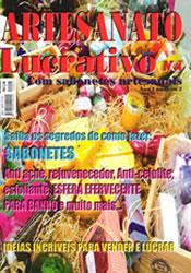Capa do livro Artesanato Lucrativo - Com Sabonetes Artesanais, Varios