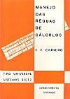 Capa do livro Manejo Das Réguas De Cálculos, R.V. Carneiro